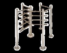 Турникет роторный Р2М2/3 хром с ограждениями