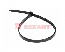 Хомут nylon 5.0 х 200 мм 100 шт черный REXANT