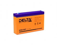 Аккумулятор Delta (DTM 607) 6В 7 Ач